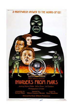 Invaders from Mars, Us Re-Issue Poster, from Top: Helena Carter, Arthur Franz, Jimmy Hunt, 1953 Giclee Print