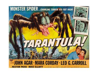 Tarantula, John Agar, Mara Corday, 1955 Giclee Print