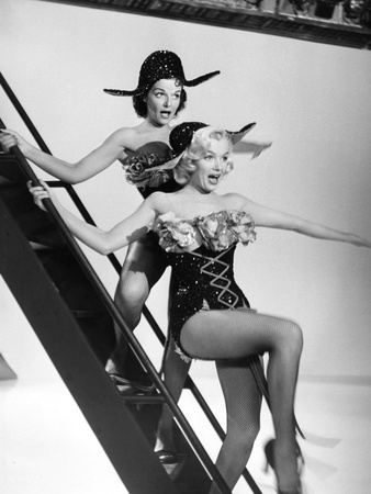 Gentlemen Prefer Blondes, from Left: Jane Russell, Marilyn Monroe, 1953 Photo