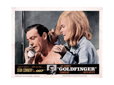 Goldfinger, from Left, Sean Connery, Shirley Eaton, 1964 Giclee Print