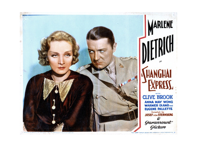 Shanghai Express, from Left, Marlene Dietrich, Clive Brook, 1932 Giclee Print