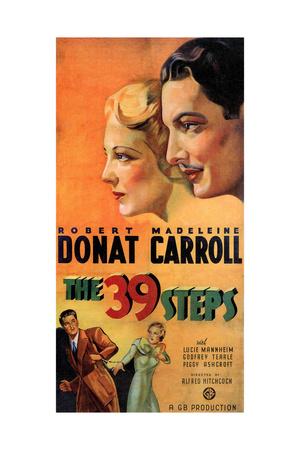 The 39 Steps, Madeleine Carroll, Robert Donat, 1935 Giclee Print