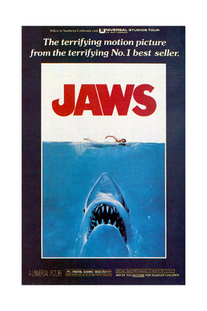 Jaws, Movie Poster, 1975 Giclee Print