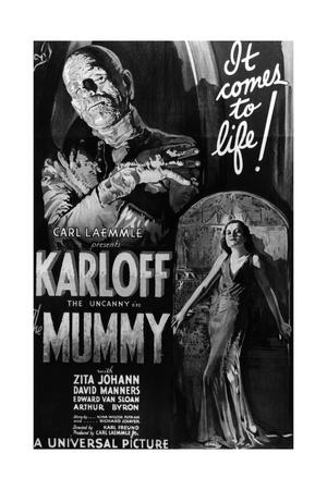 The Mummy, Boris Karloff, Zita Johann, 1932 Giclee Print
