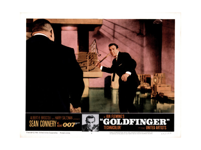 Goldfinger, from Left, Harold Sakata, Sean Connery, 1964 Giclee Print