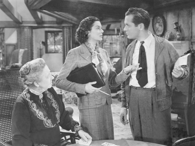 Night Must Fall, from Left: Dame May Whitty, Rosalind Russell, Robert Montgomery, 1937 Photo
