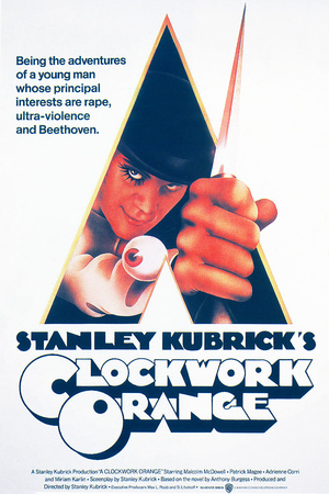 A Clockwork Orange, Malcolm Mcdowell, 1971 Giclee Print