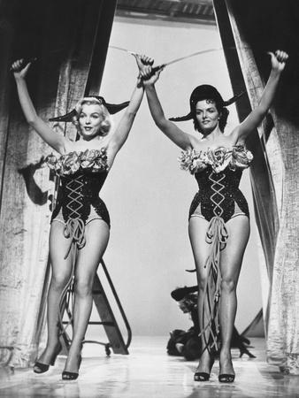 Gentlemen Prefer Blondes, from Left: Marilyn Monroe, Jane Russell, 1953 Photo