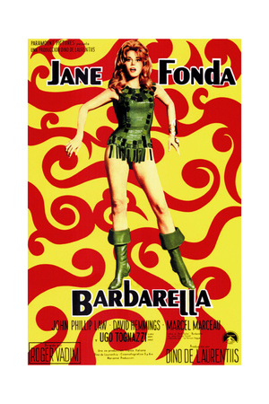 Barbarella, Jane Fonda, (Italian Poster Art), 1968 Giclee Print