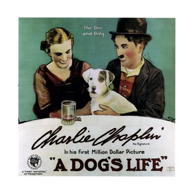 A Dog's Life, Edna Purviance, Charlie Chaplin, 1918 Giclee Print