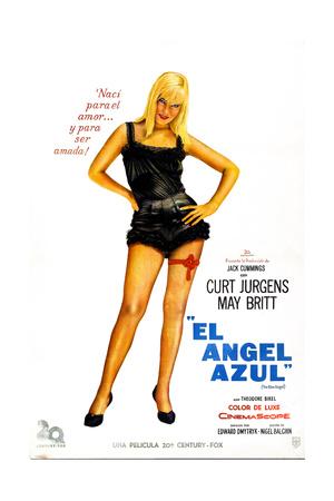 The Blue Angel, (AKA El Angel Azul), Argentine Poster, May Britt, 1959 Giclee Print