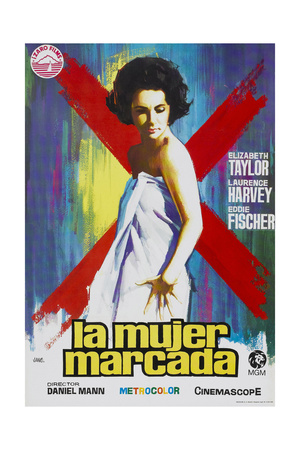 Butterfield 8, (AKA La Mujer Marcada), Elizabeth Taylor on Spanish Poster Art, 1960 Giclee Print