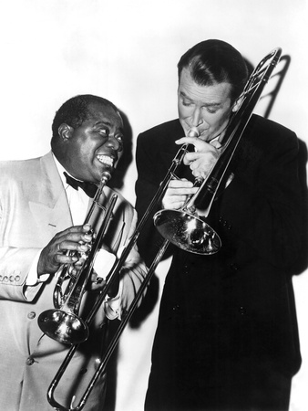 The Glenn Miller Story, Louis Armstrong, James Stewart, 1954 Photo