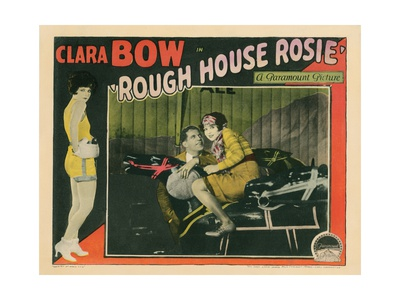 Rough House Rosie, Clara Bow (Left and Right), Reed Howes (Center), 1927 Giclee Print