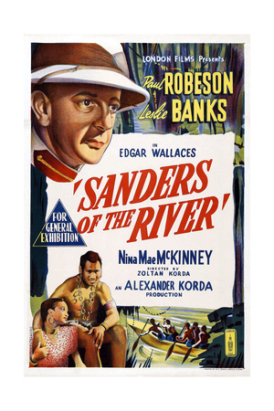 Sanders of the River, Top: Leslie Banks; Bottom from Left: Nina Mae Mckinney, Paul Robeson, 1935 Giclee Print