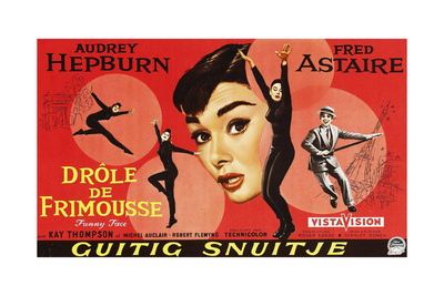 Funny Face, (AKA Drole De Frimousse), Audrey Hepburn, 1957 Giclee Print