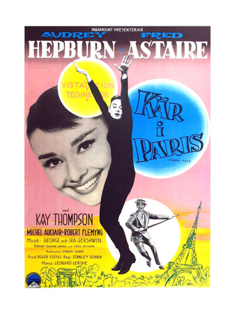 Funny Face, from Left, Audrey Hepburn, Fred Astaire, 1957 Giclee Print