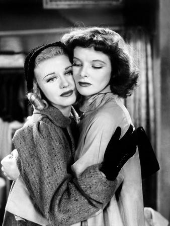 Stage Door, Ginger Rogers, Katharine Hepburn, 1937 Photo