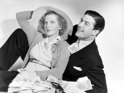 Easy Living, from Left: Jean Arthur, Ray Milland, 1937 Photo