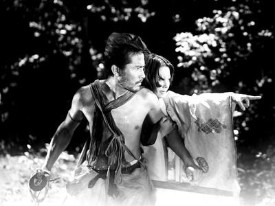 Rashomon, from Left: Toshiro Mifune, Machiko Kyo, 1950 Photo
