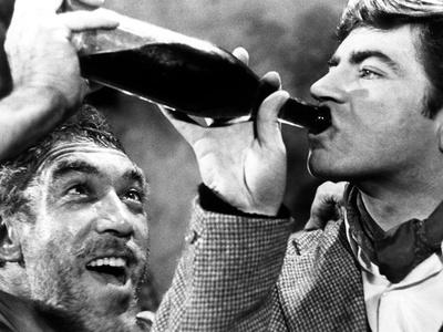 Zorba the Greek, Anthony Quinn, Alan Bates, 1964 Photo