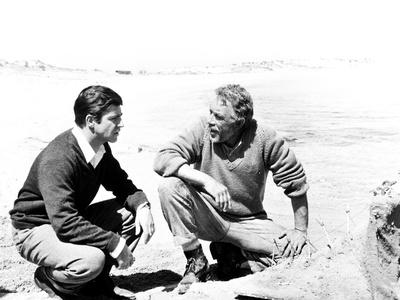 Zorba the Greek, from Left, Alan Bates, Anthony Quinn, 1964 Photo
