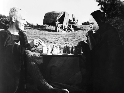 The Seventh Seal, from Left: Max Von Sydow, Bengt Ekerot, 1957 Photo