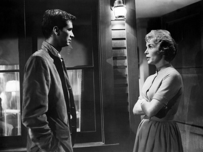 Psycho, Anthony Perkins, Janet Leigh, 1960 Photo