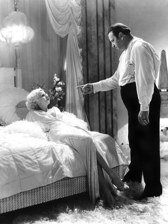 Dinner at Eight, Jean Harlow, Wallace Beery, 1933 Photo