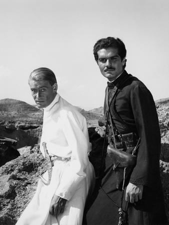 Lawrence of Arabia, Peter O'Toole, Omar Sharif, 1962 Photo