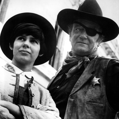 True Grit, Kim Darby, John Wayne, 1969 Photo