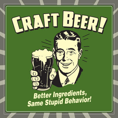Craft Beer Prints by  Retrospoofs
