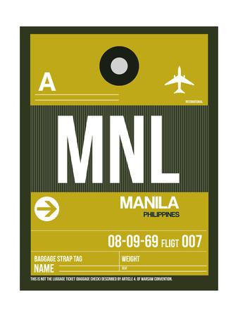 MNL Manila Luggage Tag II Prints by  NaxArt