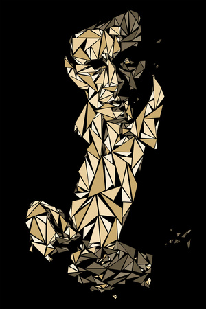 Johnny Cash Print by Cristian Mielu