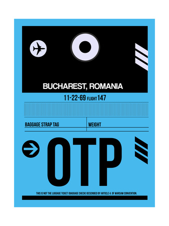OTP Bucharest Luggage Tag II Prints by  NaxArt