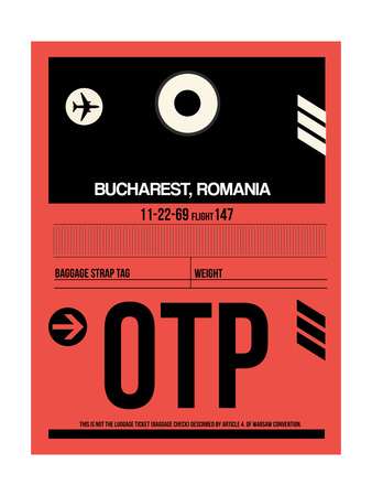 OTP Bucharest Luggage Tag I Posters by  NaxArt