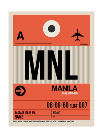 MNL Manila Luggage Tag I Posters by  NaxArt