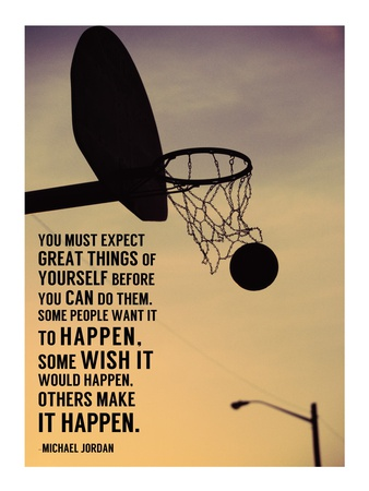 Expect Great Things Print by  Sports Mania