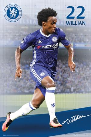 Chelsea F.C.- Willian 16/17 Posters