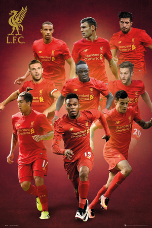 Liverpool Players 16/17 Posters