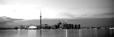 Buildings at the Waterfront, Cn Tower, Toronto, Ontario, Canada Photographic Print by  Panoramic Images
