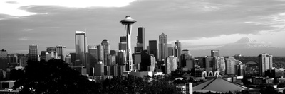 City Viewed from Queen Anne Hill, Space Needle, Seattle, King County, Washington State, USA Photographic Print by  Panoramic Images