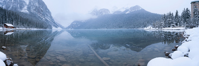 Fresh Snow at Lake Louise, Banff National Park, Alberta, Canada Photographic Print by  Panoramic Images