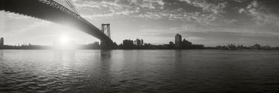 Suspension Bridge at Sunrise, Williamsburg Bridge, East River, Manhattan, New York City Photographic Print by  Panoramic Images
