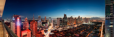 Elevated View of Skylines in a City, Makati, Metro Manila, Manila, Philippines Photographic Print by  Panoramic Images