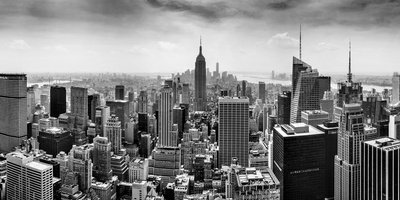 Aerial View of Cityscape, New York City, New York State, USA Photographic Print by  Panoramic Images