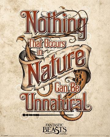 Fantastic Beasts- Nothing Unnatural In Nature Plakater