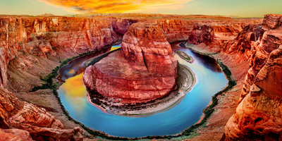 High Angle View of Horseshoe Bend, Page, Arizona, USA Photographic Print by  Panoramic Images