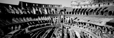 High Angle View of Tourists in an Amphitheater, Colosseum, Rome, Italy Photographic Print by  Panoramic Images