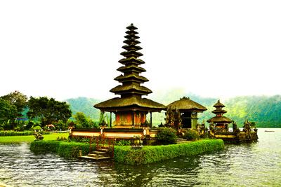 Pura Ulun Danu Temple, Lake Bratan, Bali, Indonesia, Southeast Asia, Asia Photographic Print by Laura Grier